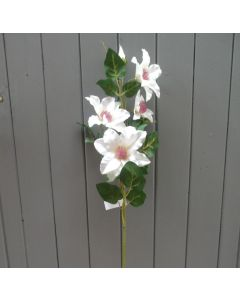 Artificial 60cm Ivory Clematis Spray