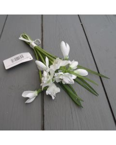 Artificial 21cm Snowdrop Bunch