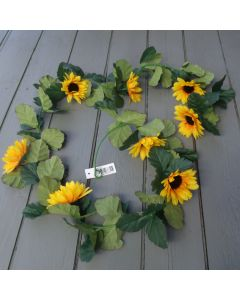Artificial 165cm Sunflower Garland.