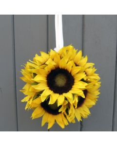Artificial 15cm Sunflower Pomander