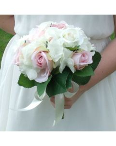 Artificial Vintage Rose and Hydrangea Bouquet