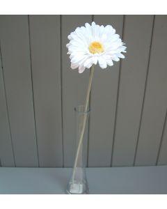 Artificial 55cm Single White Gerbera