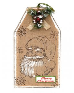 Artificial Hanging Wooden Plaque with attractive Xmas Santa Design